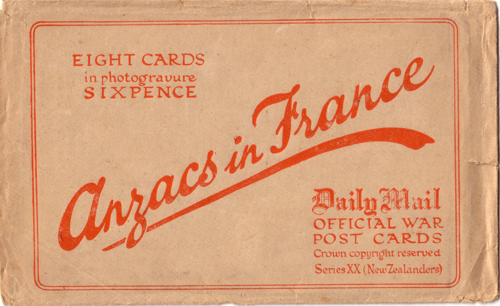 The Anzacs in France postcard series envelope