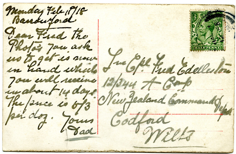 Postcard #1 - Reverse