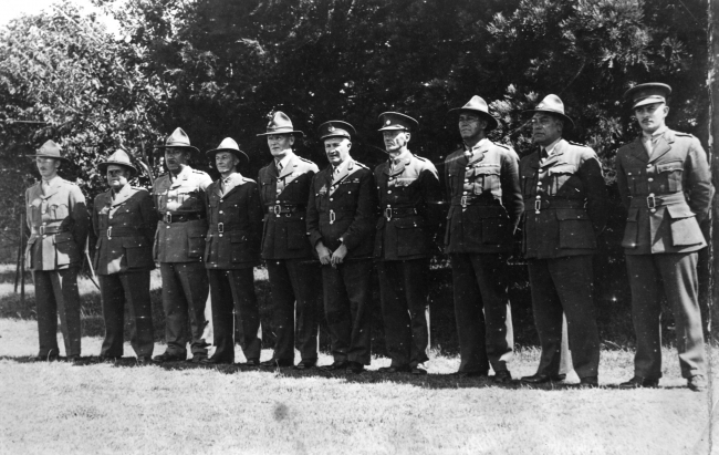 Figure 5: The original officers of the 28th Māori Battalion, 1940. Brigadier Dittmer is fourth from the right. Source: 28th Māori Battalion website, URL:      http://www.28maoribattalion.org.nz