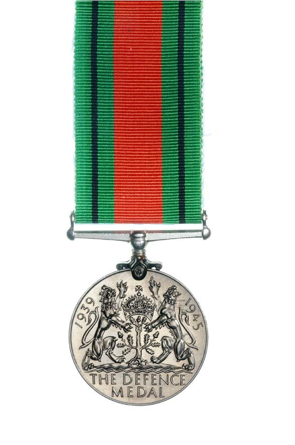 Figure 8: The Defence Medal, which was awarded to British Commonwealth and British Colonial personnel who served outside their home countries in a non-operational area or in an area subject to threat such as air attack. Source: NZDF website. Accessed 28 October 2016. URL:      http://medals.nzdf.mil.nz/category/h/h17.html