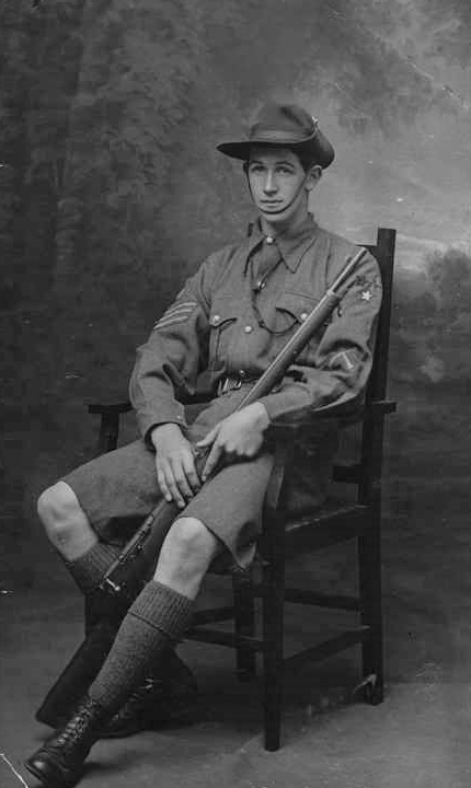 Figure 3: Leslie Andrew as a cadet, circa 1912. Source: Jeremy Matthews, family photograph.