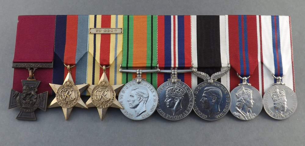 Figure 8: Keith Elliott's medals, held at the National Army Museum in Waiouru. Source: Elizabeth Mildon, National Army Museum/Te Mata Toa.