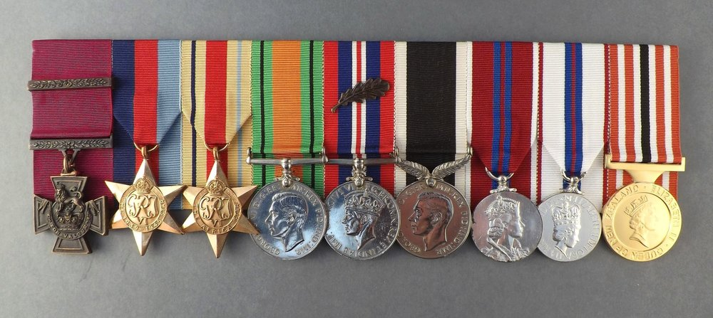 Figure 11:  Captain Charles Upham's medals, currently held by National Army Museum, Waiouru. Source: Photograph supplied by National Army Museum, Waiouru.