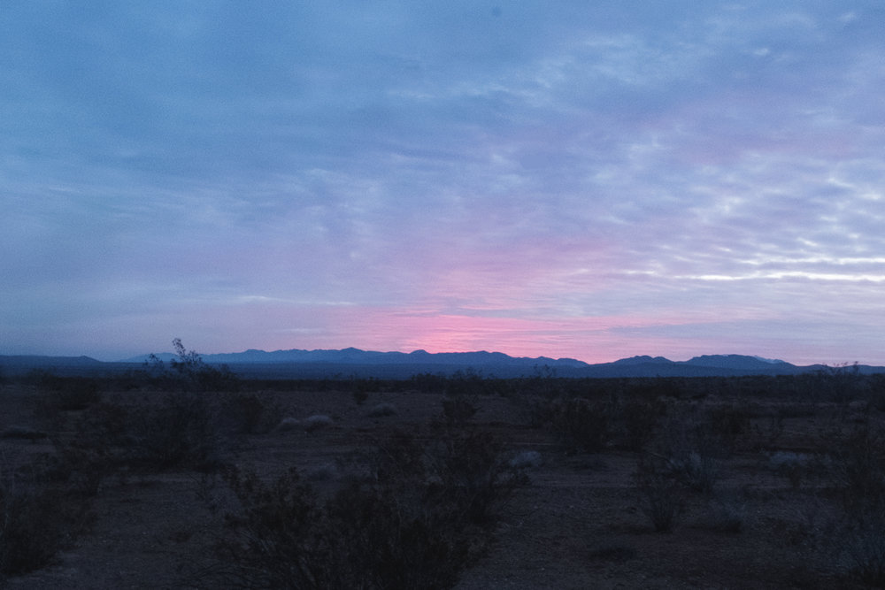 Sunrise in Barstow