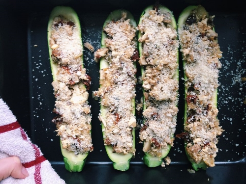 Tofu Stuffed Zucchini Boats - coming soon ;)