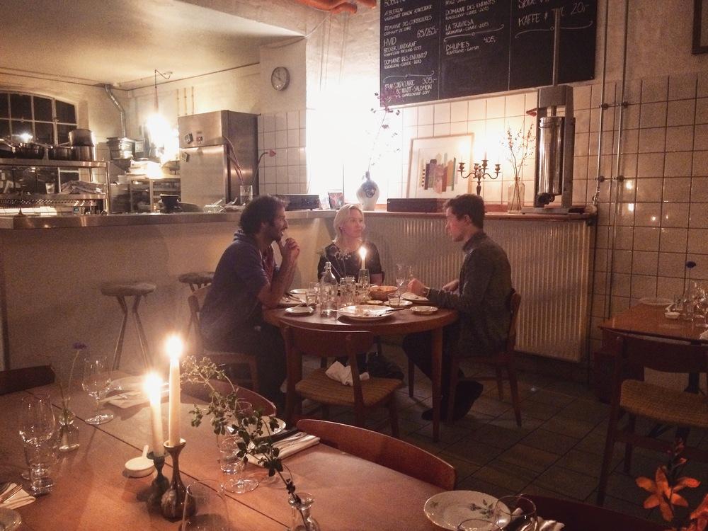 Dinner with Benedicte and Ibrahim