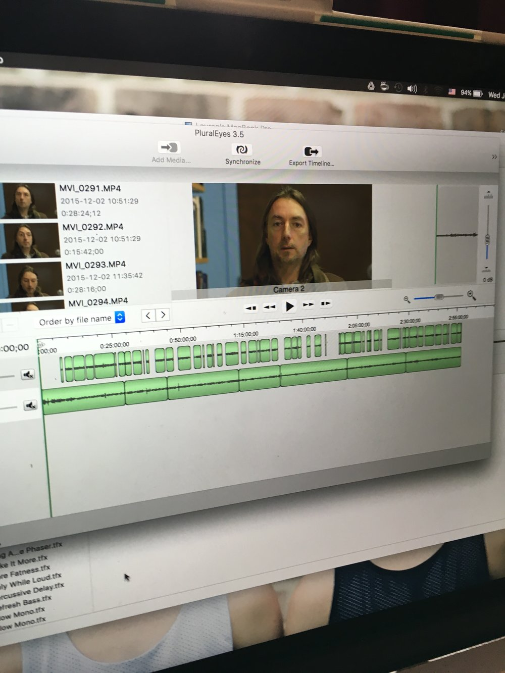 Workflow for syncing a multiple camera interview set-up.