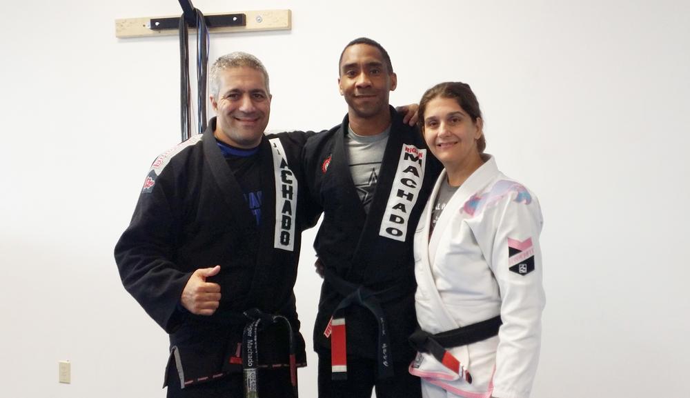 (RCJ Machado Pasadena's Professor Roger Machado, Eric Smith, & Kris Shaw)
