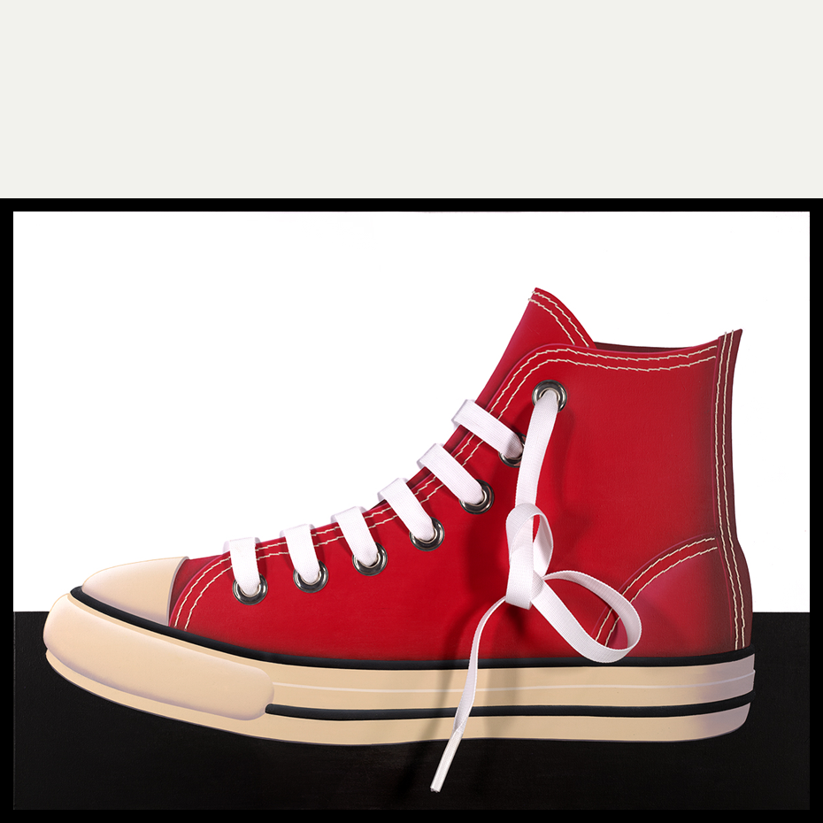 CANVAS SHOE (Red/Port/Left)