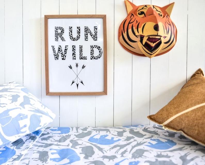 Safari Print Sheet Set   Single Bed
