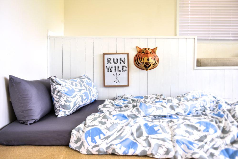 Organic Cotton Boys Bedding   Quilt Cover Set And Sheet Set   Moonlit Sleep