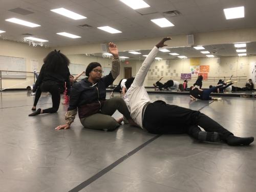 Suzuki for Young Actors Workshop, Ridge View High School, May 2018