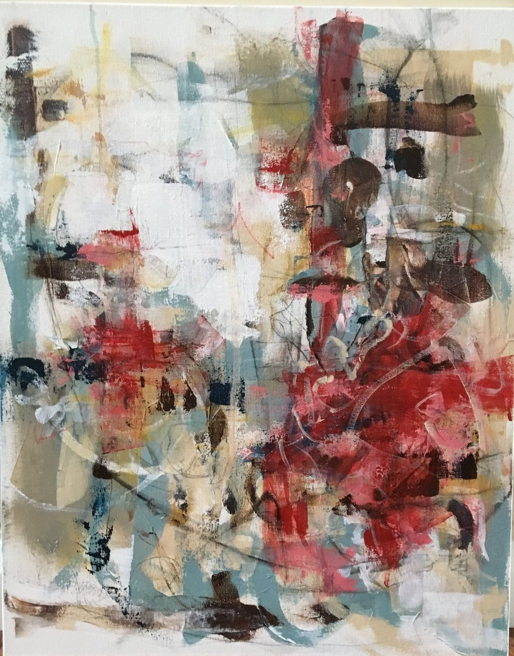 24 x 30 Original Abstract Acrylic on gallery wrapped canvas