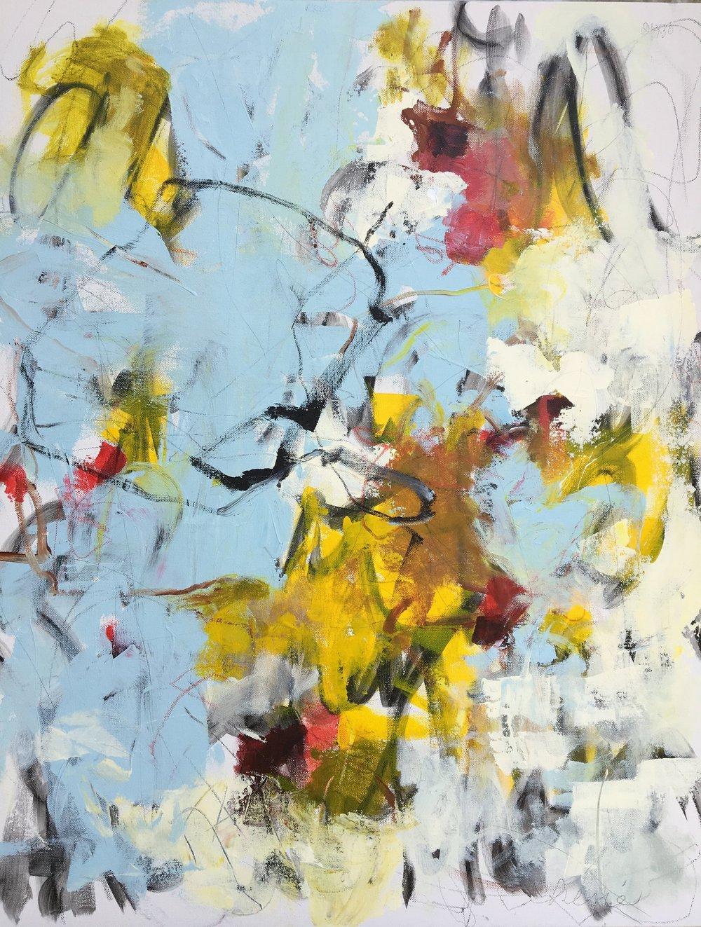 "24 X 30"" Original Abstract Acrylic on gallery wrap canvas."
