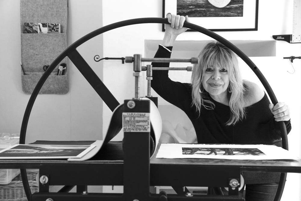 In my Studio - with Gunning Etching Press