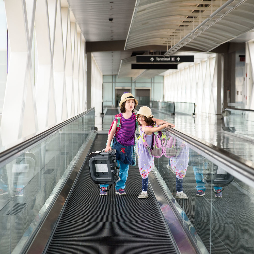Moving Walkway Fans