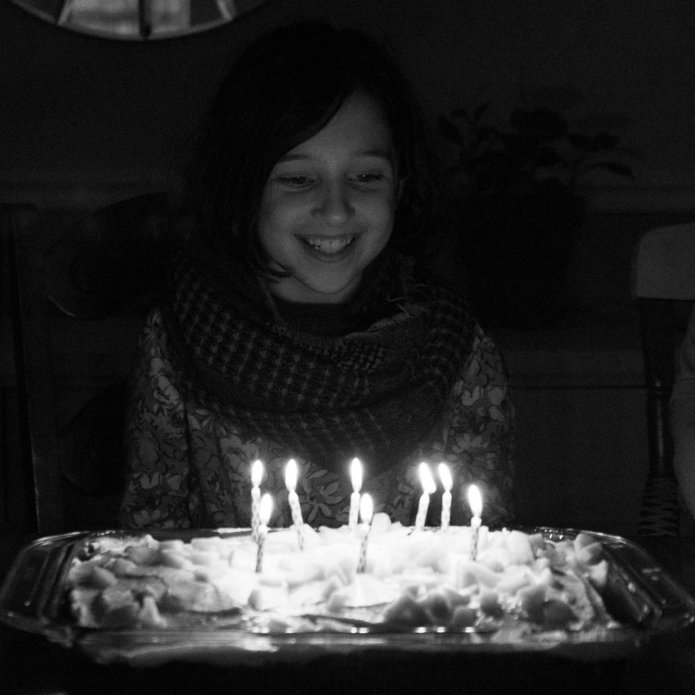 She's 8!
