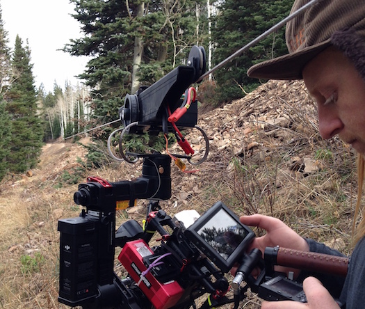 Shooting with a RED Epic on a cablecam