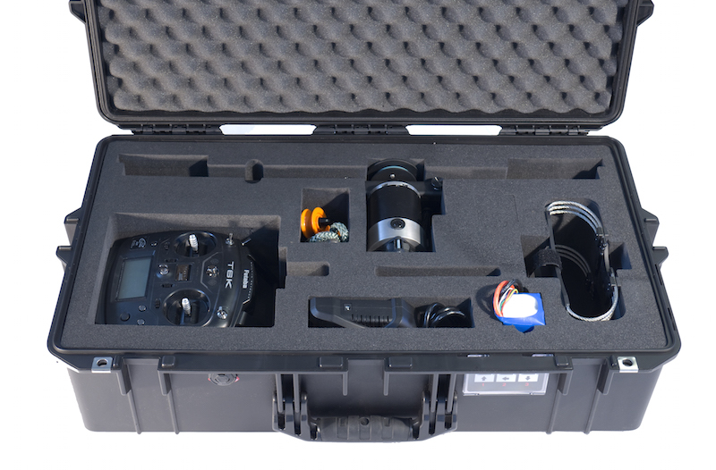 High Sight XL cable cam in the Pelican Air Case for Travel