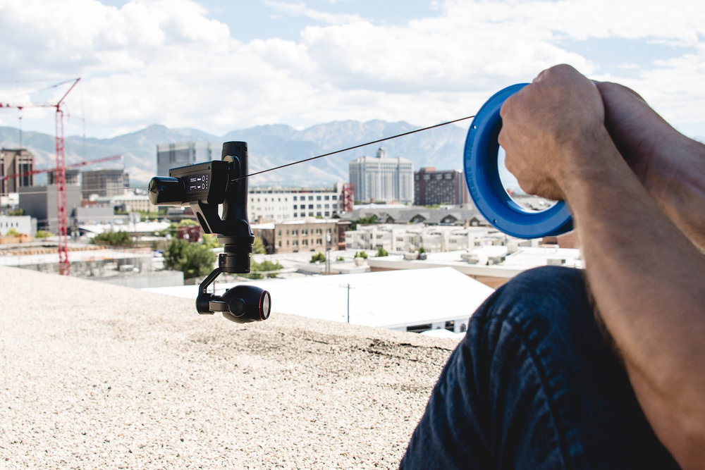 Hand Held - Worlds first handheld cable cam! The mini gives you the freedom to put the camera exactly where you want it. Float an inch off the ground or fly it through tight spaces to capture angles unlike any other. Also a great way to shoot 360 video!