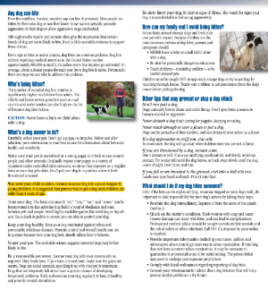 These guidelines were established in an effort to reduce the risk of dogs biting children.  Please click on image to read two page brochure then indicate your response on the left.