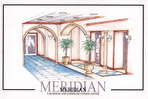 Interior Color Rendering for Elevator Lobby #1