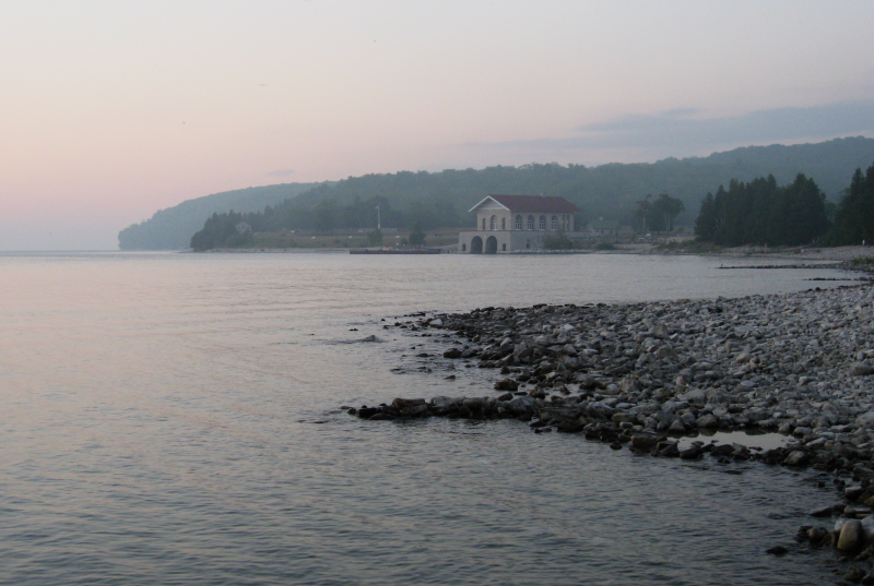 The Rock Island shoreline