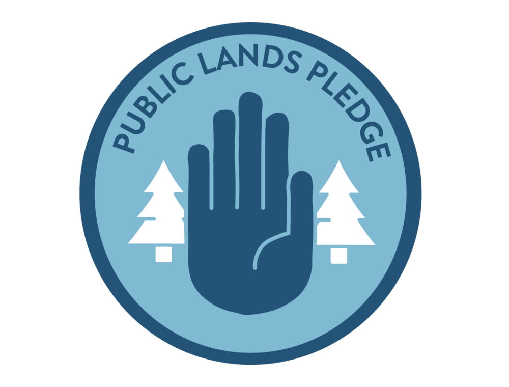 Our Public Lands Pledge Logo