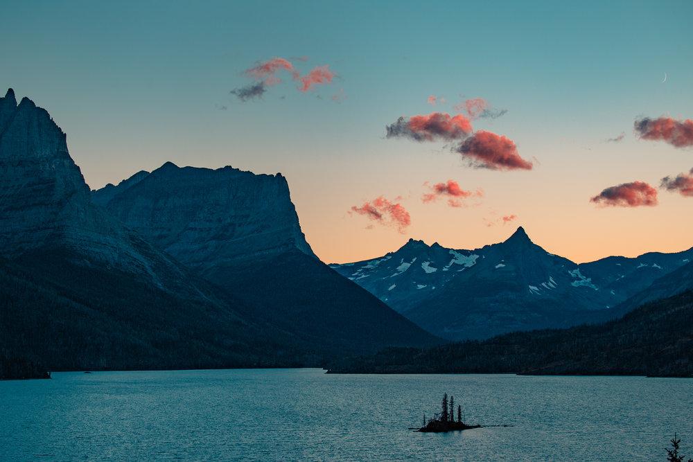 St. Mary Lake sunset