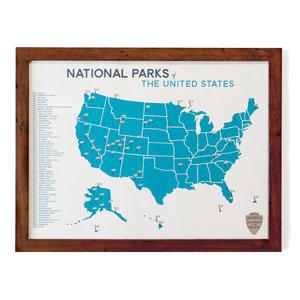National Parks Map & Checklist — Gitchi Adventure Goods