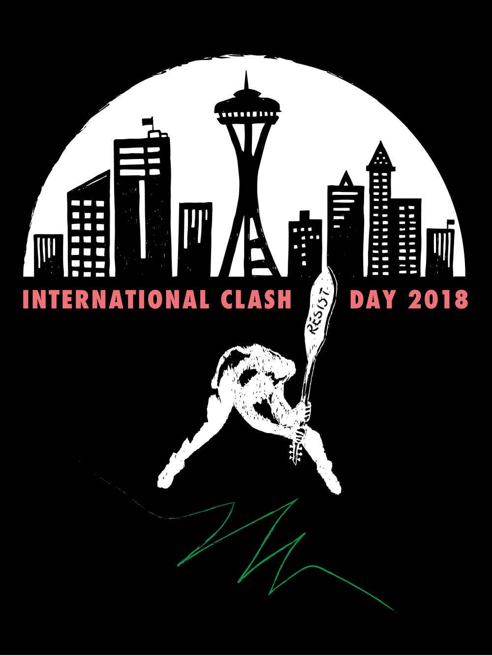 International Clash Day 2018 - I was one of 30 poster artists who participated in KEXP's International Clash Day 2018 on February 7th, 2018. These posters are currently on display in their gathering space through April 1st, 2018.Interested in purchasing this poster? Give me a shout in my