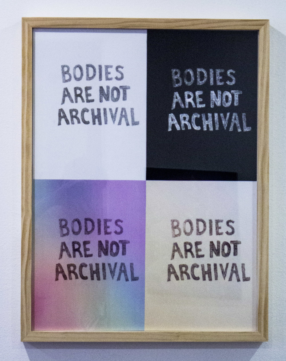 Bodies Are Not Archival