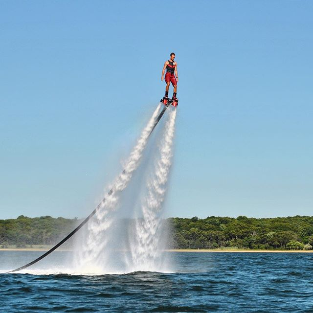 Reach new heights! The water is warm, let's go Flyboarding.