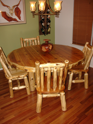 Log Dining Room Furniture — Log Furniture Gallery by Vienna Woodworks