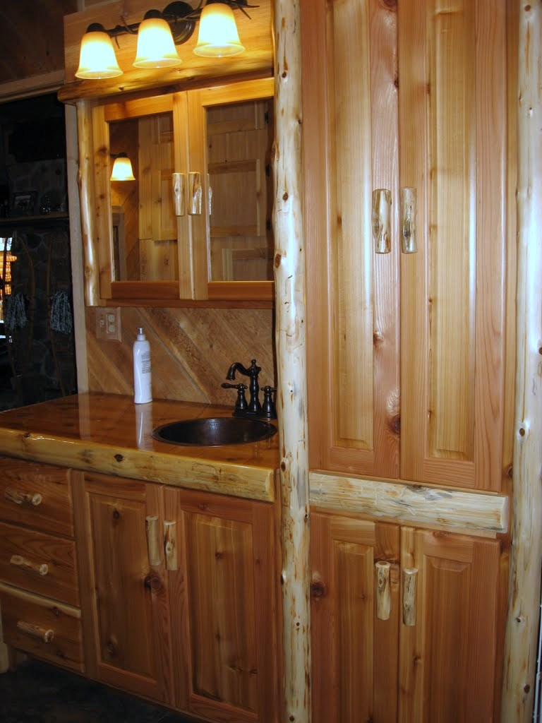 cedar-log-bathroom-cabinets