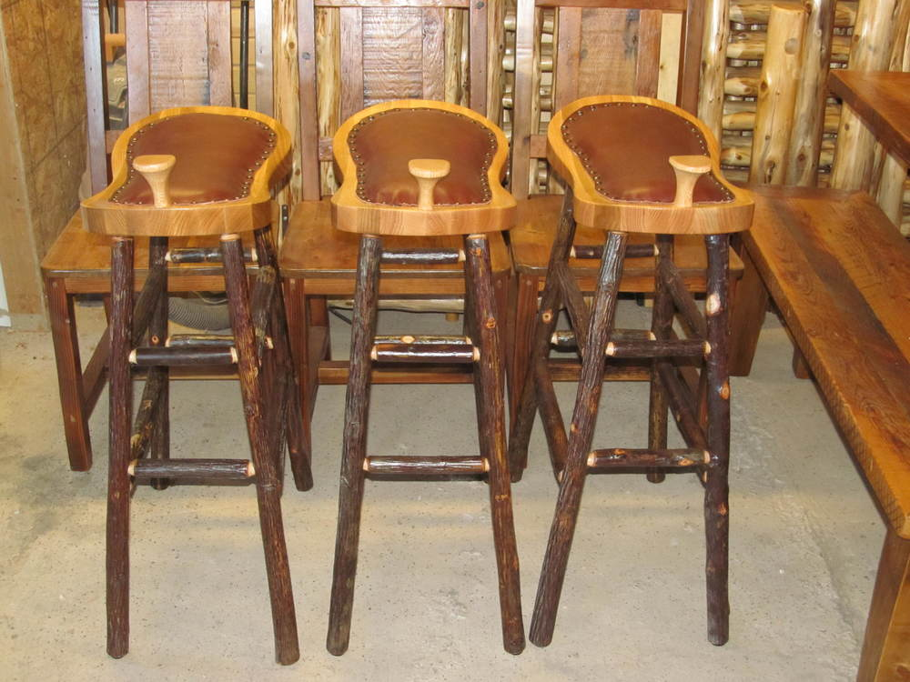 hickory-log-saddle-stools