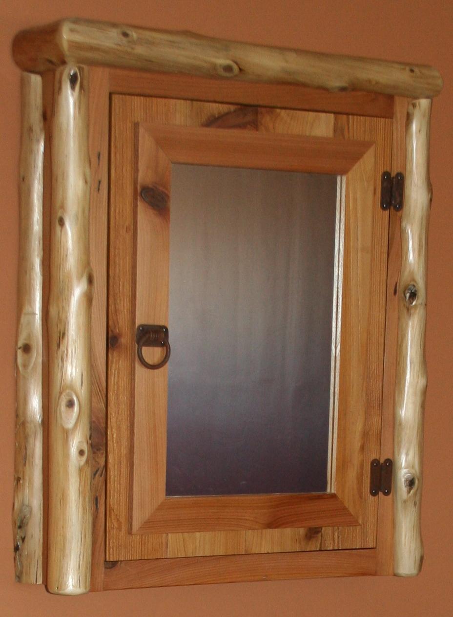Log Medicine Cabinets