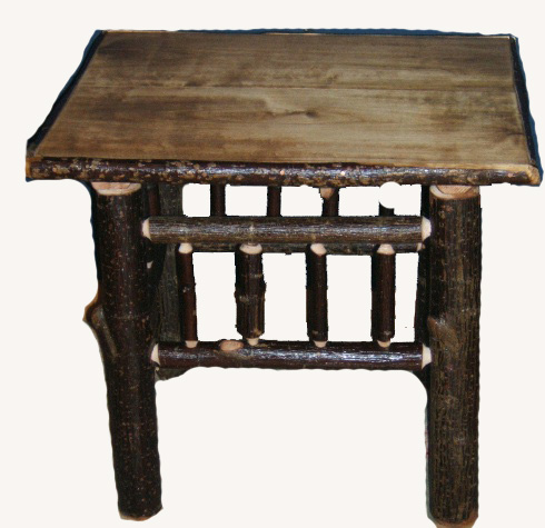 Hickory Log End Table.jpg