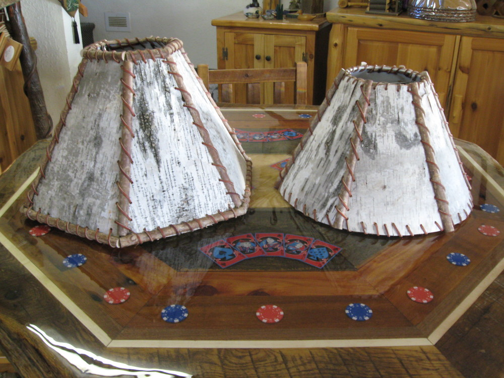 Log lamps log furniture gallery by vienna woodworks birch lamp shades 022g mozeypictures Gallery