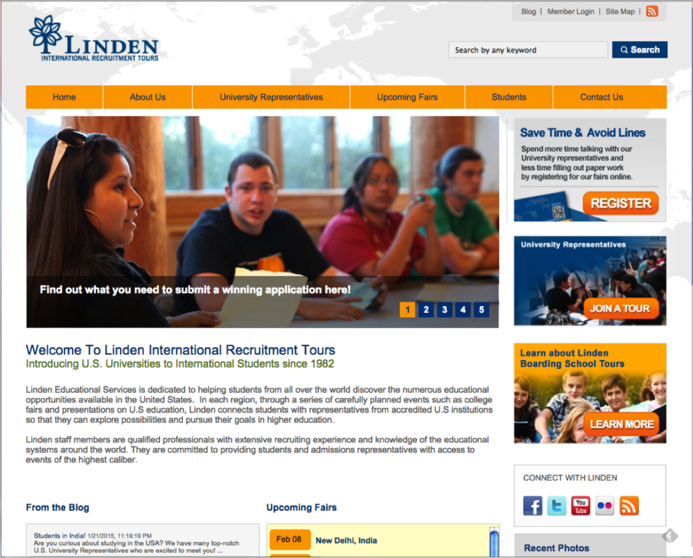 Linden website screenshot