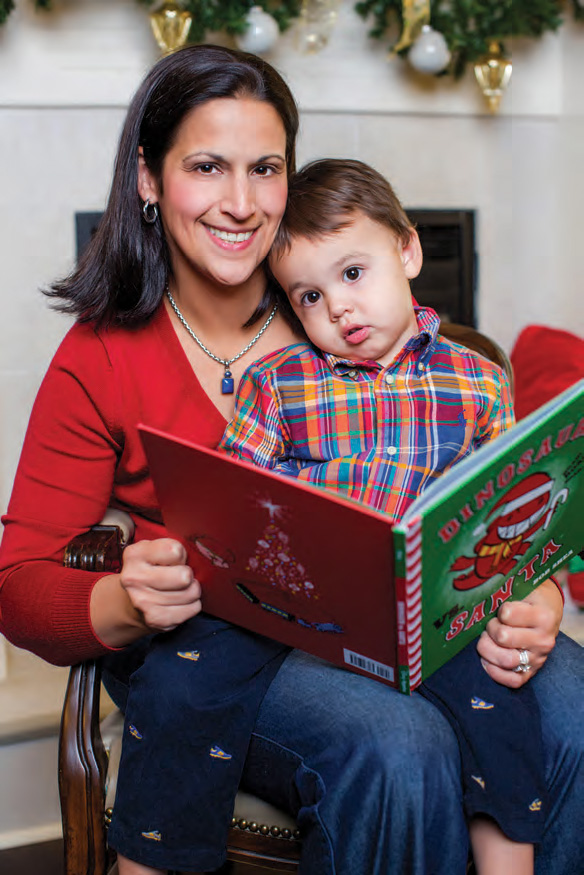 Mom Allison and 2-year-old son Bob take a book break. | Photo by Karen Seagrave