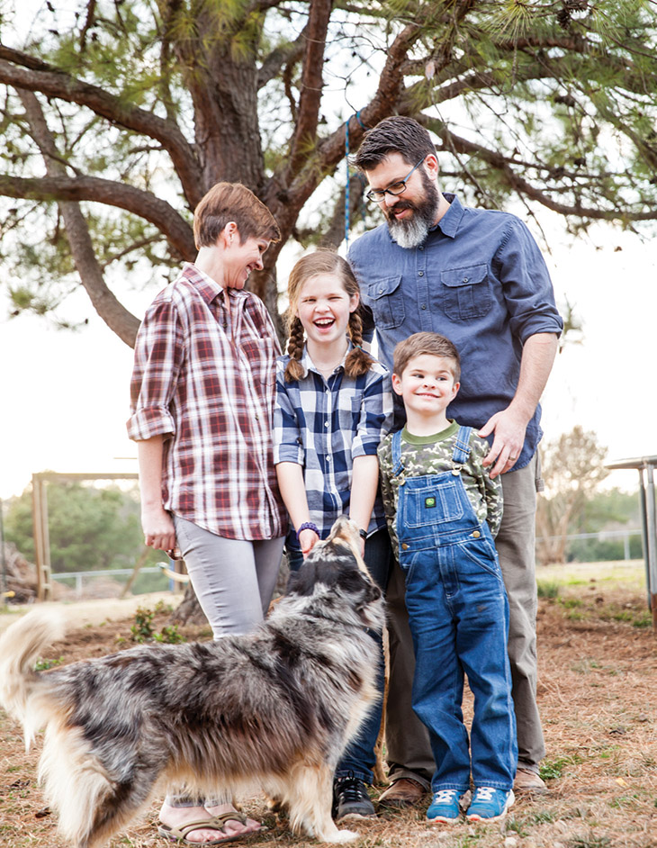 Heather collins with husband brant, daughter maggie, and son james. | Photo by sara blancett reeves