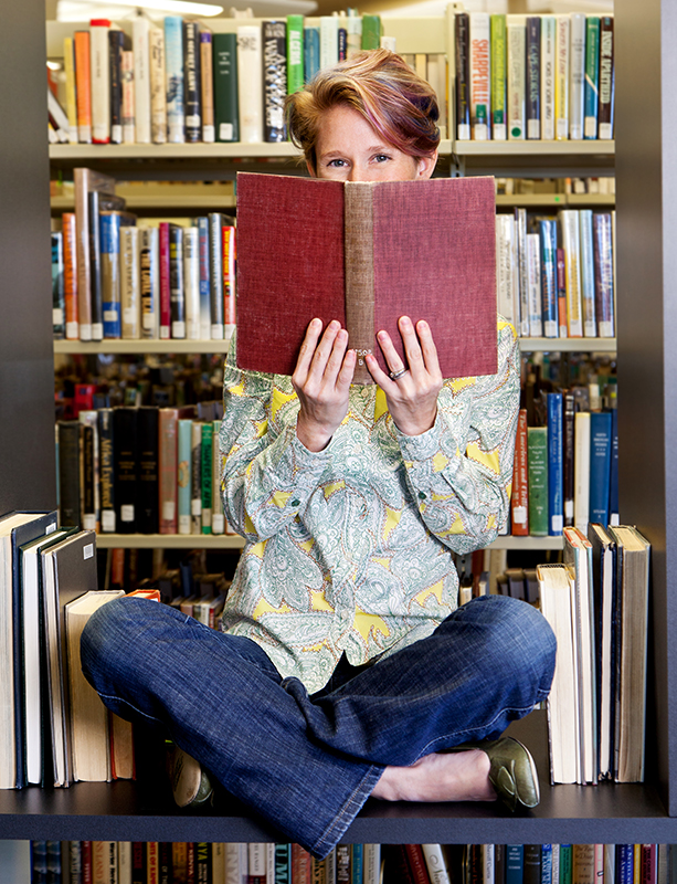 When she has time to herself, you'll find Sara Drew in the middle of a great book.  Photo by Matthew Martin