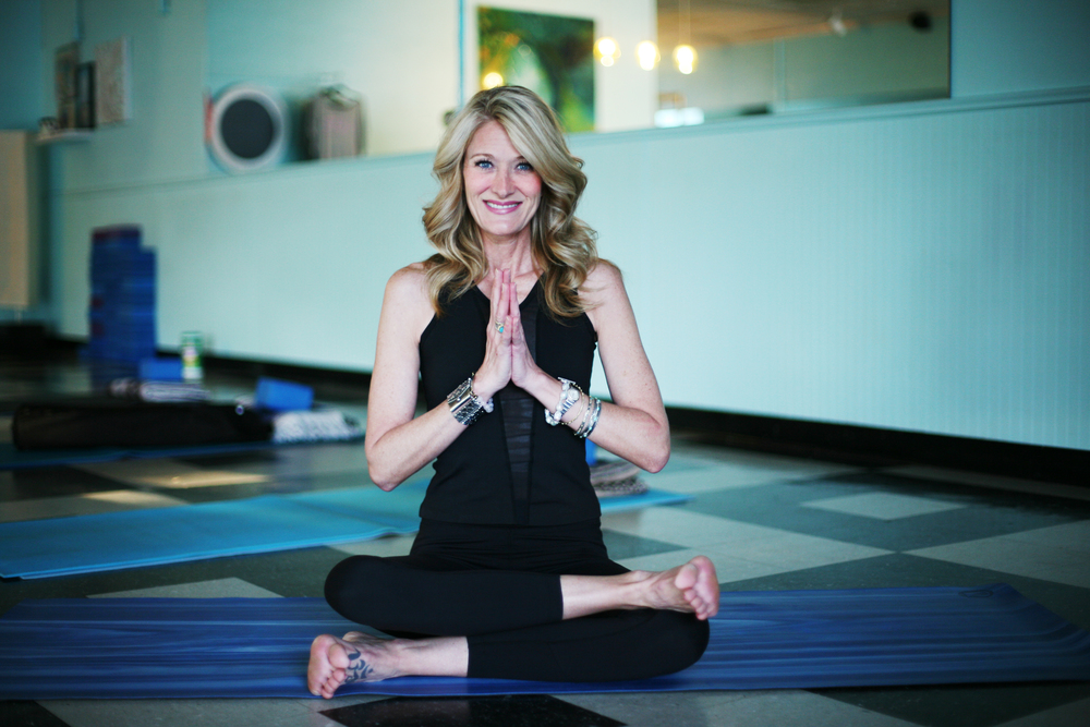 Stacey Faught, owner of Blue Yoga Nyla Sanctuary in North Little Rock.
