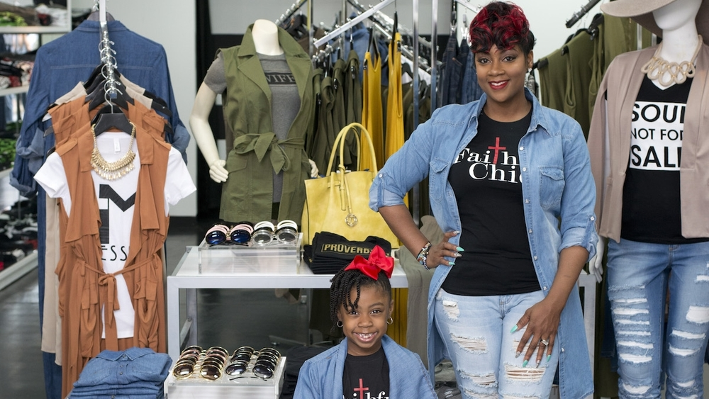 Crystal and Kennedy Perkins at Faithful Chics Boutique.