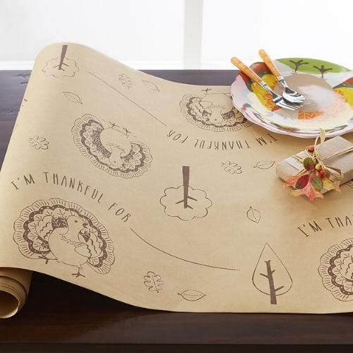 Thanksgiving Kraft Paper Tablerunner