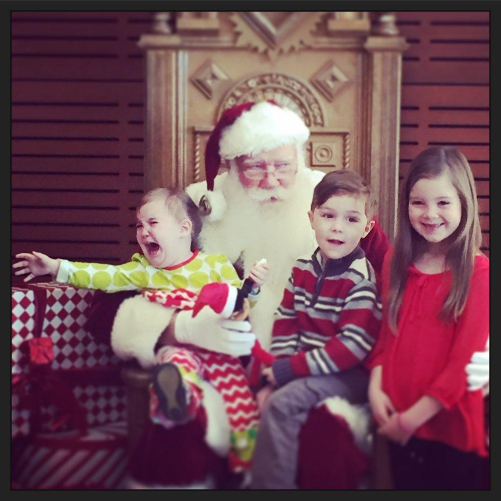 Holmans with Santa
