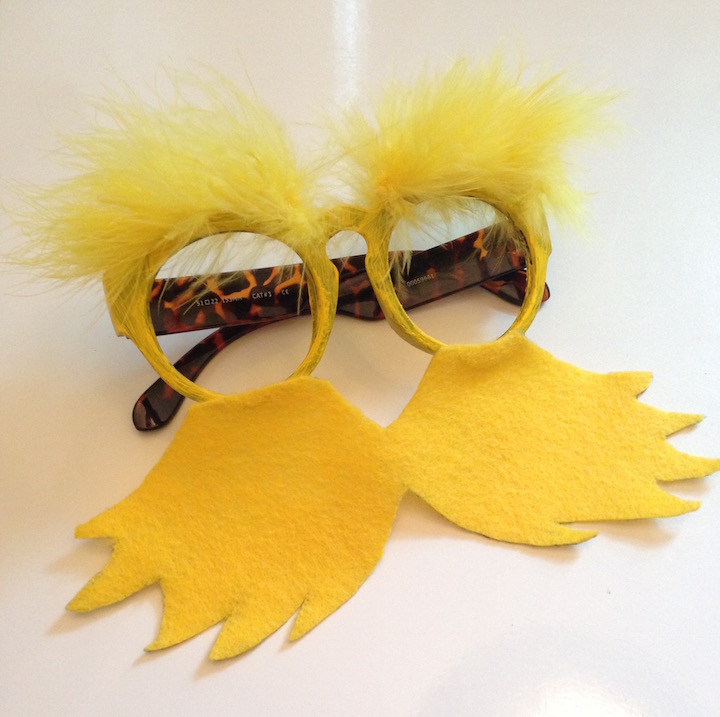 DIY Lorax Glasses Dr. Seuss Craft