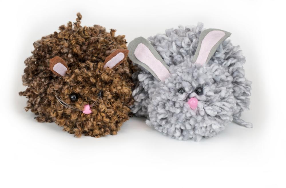 East Easter Bunny Pom Poms