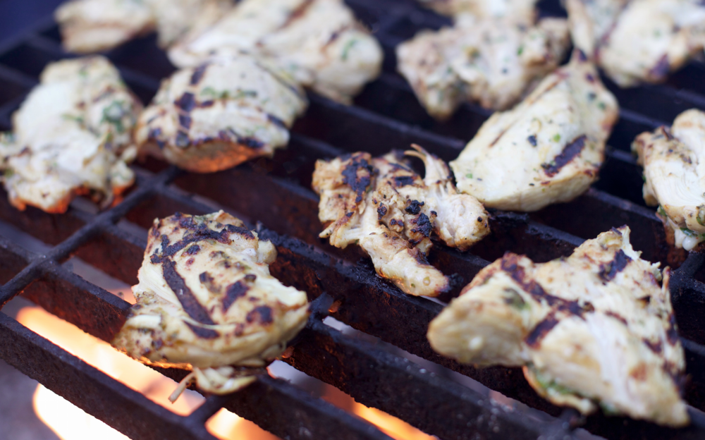 Citrus and Cilantro Marinated Chicken on the Grill